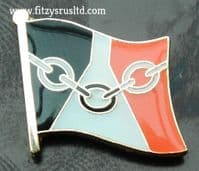 Black Country Flag Lapel Hat Cap Tie Pin Badge Chainmakers Chain Makers Souvenir